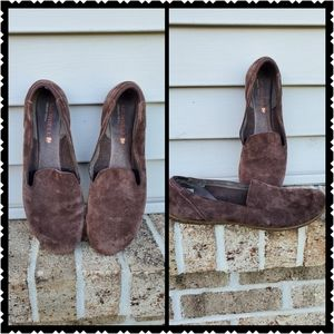 Merrell Slip on suede shoes 8.5 brown